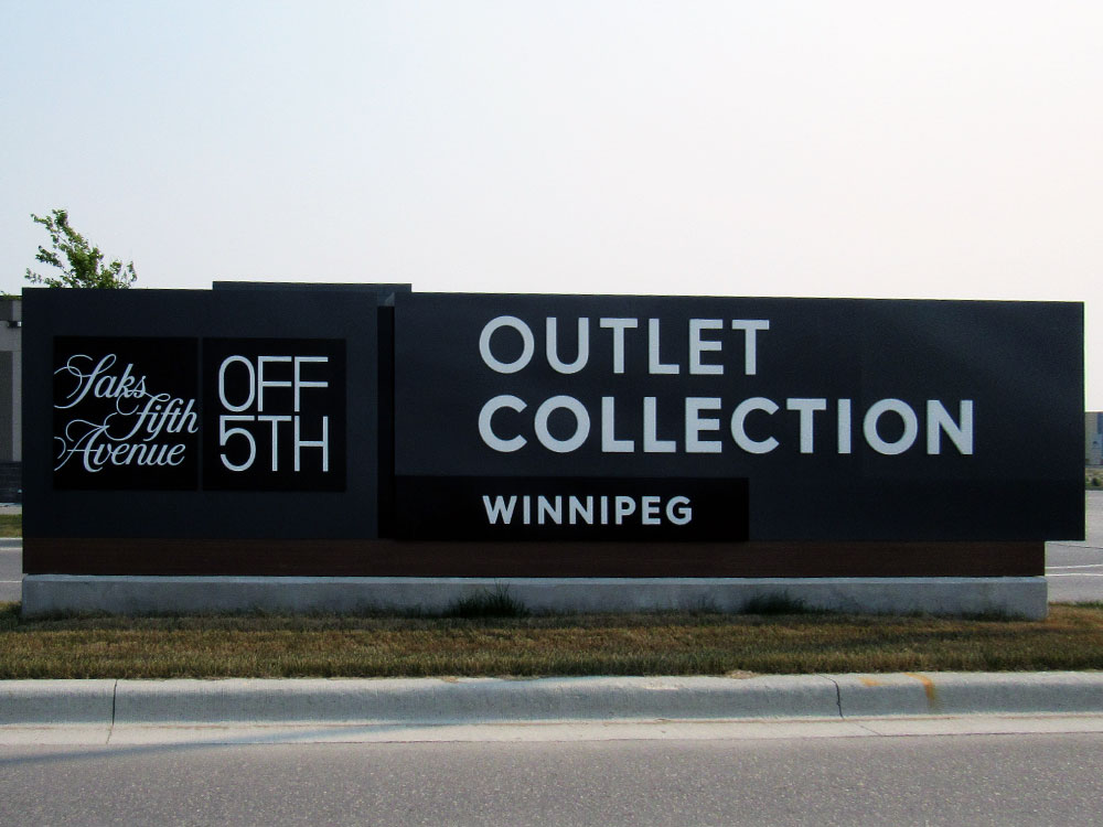 Outlet Collection Winnipeg Sign