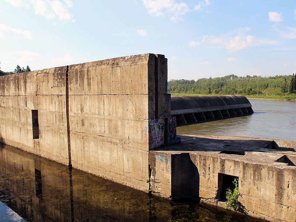 Side of the dam