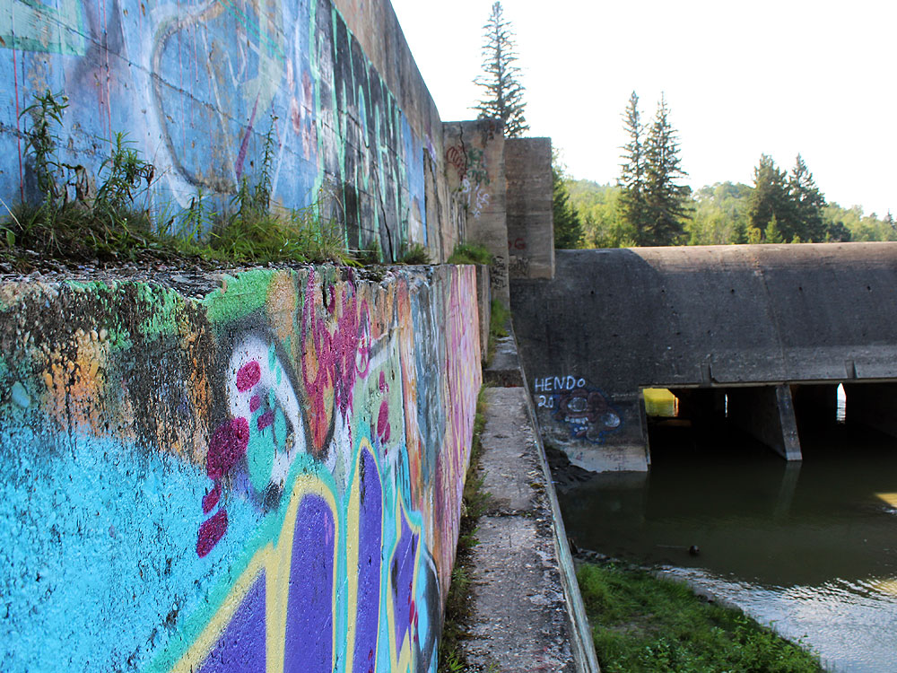 Wall of the dam