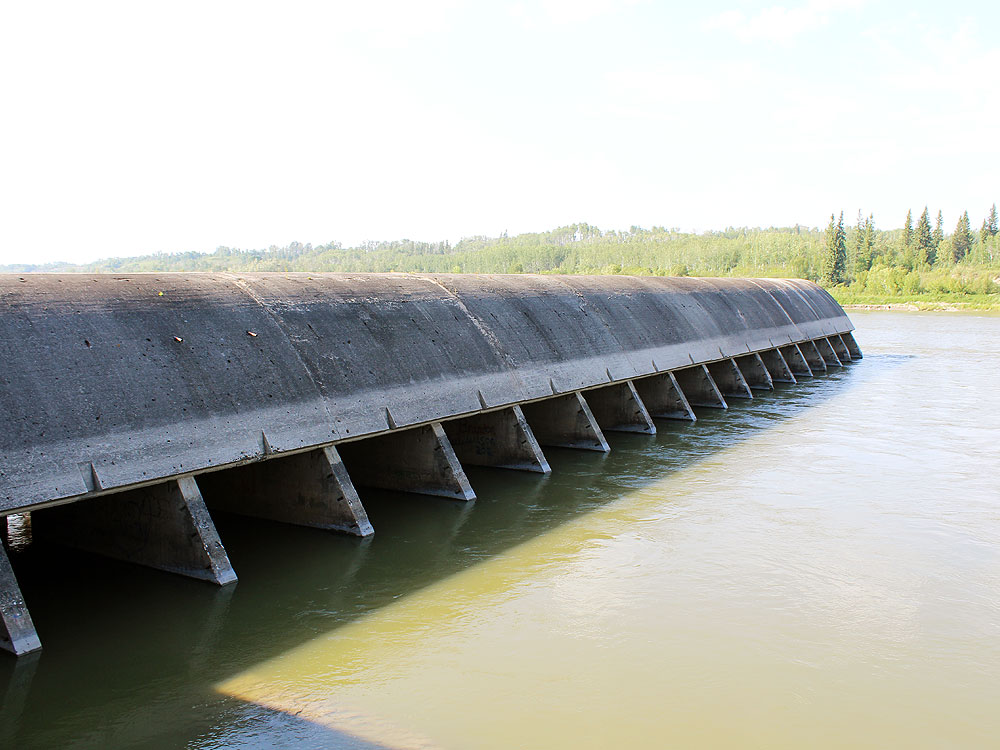 The wing of the dam