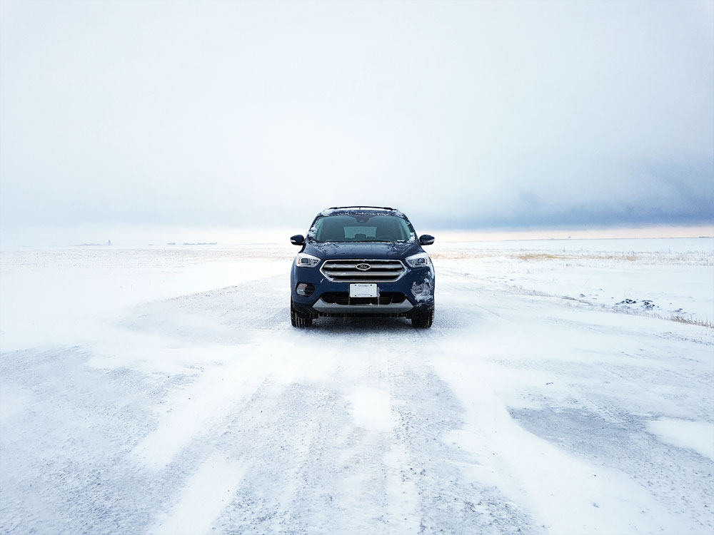 Ford Escape in Blizzard