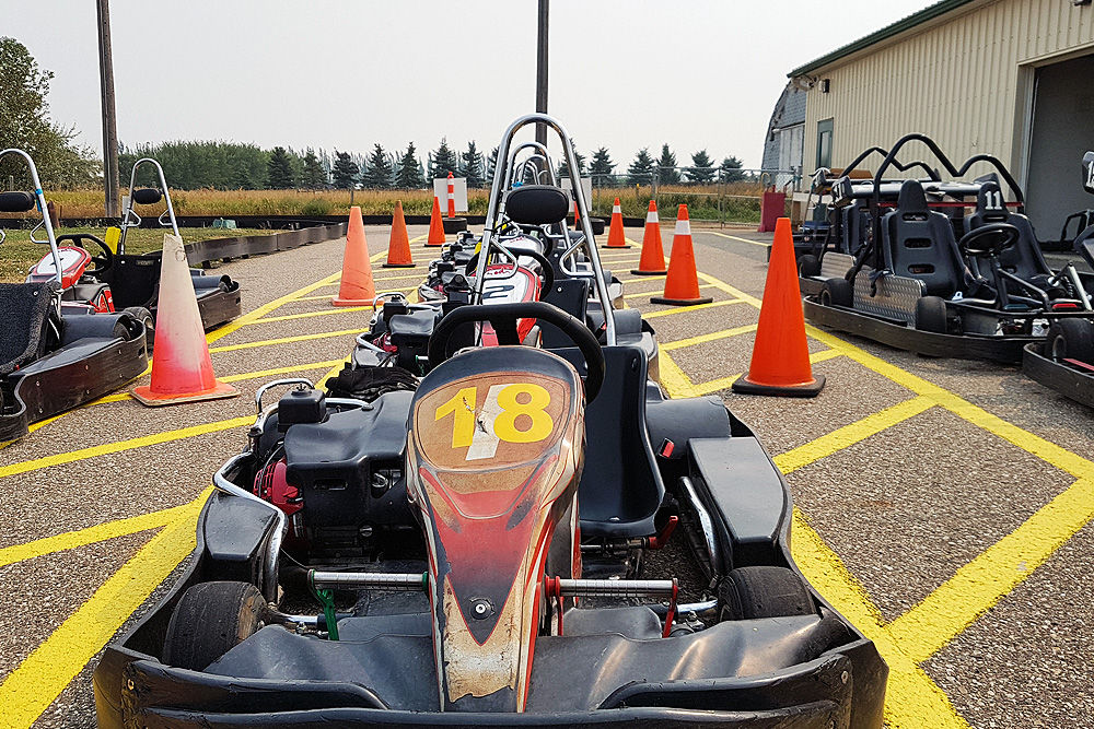 Go-karting at Evergreen