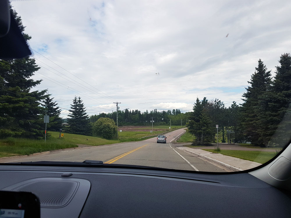 Lots of driving in New Brunswick