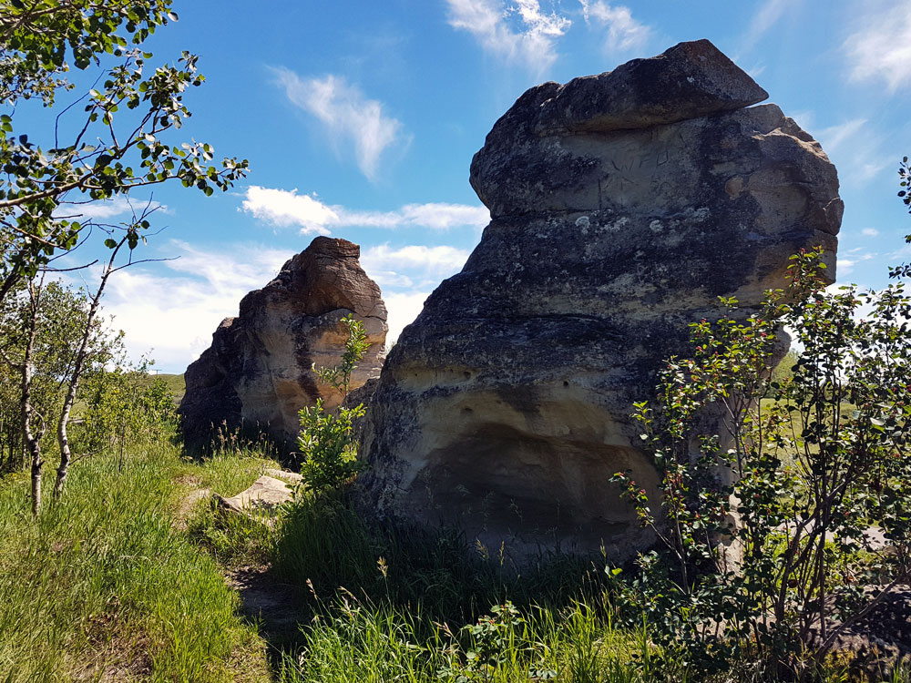 Rock formations at Roche Percée