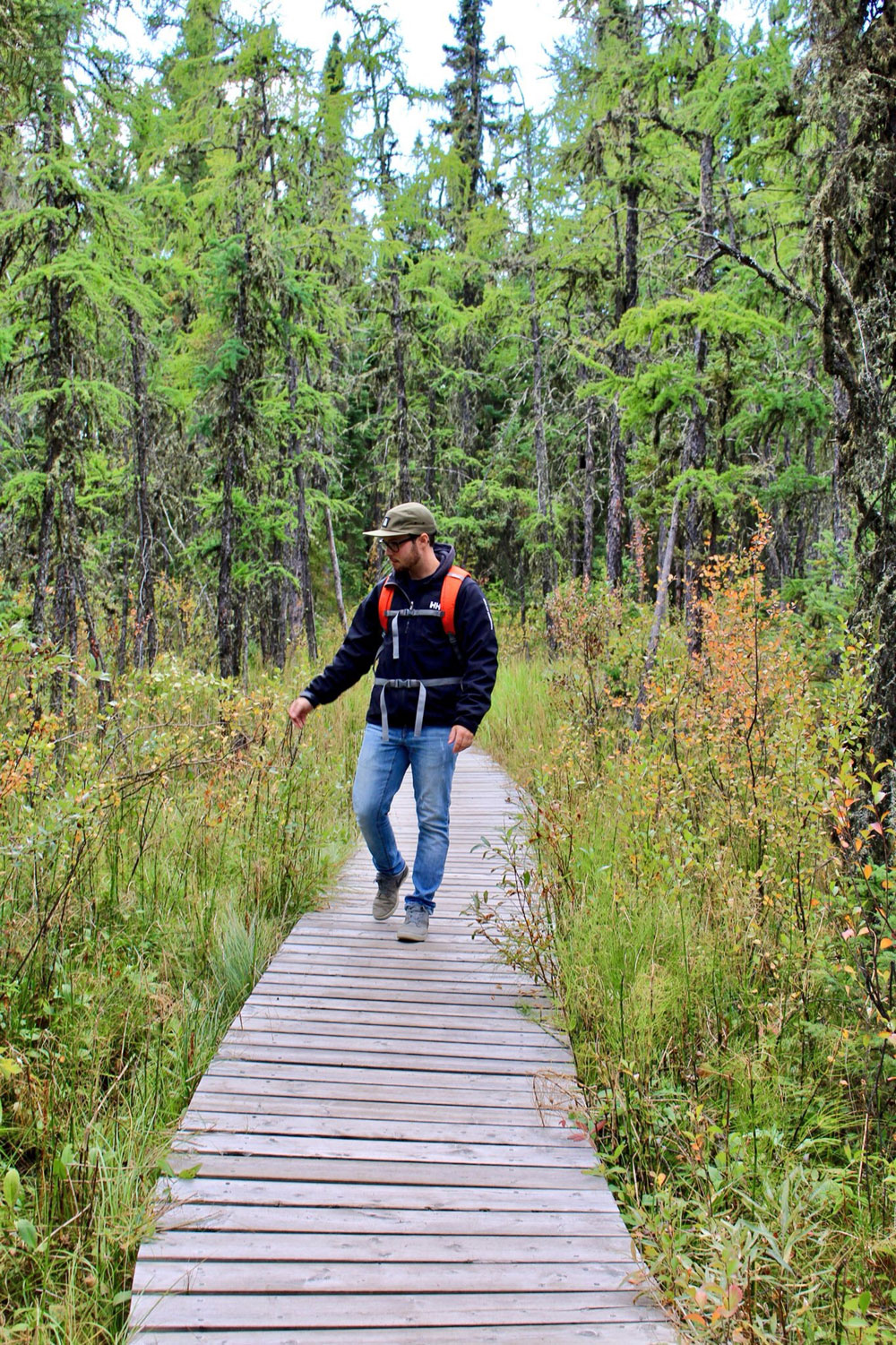 Kevin walking in Northern Saskatchewan