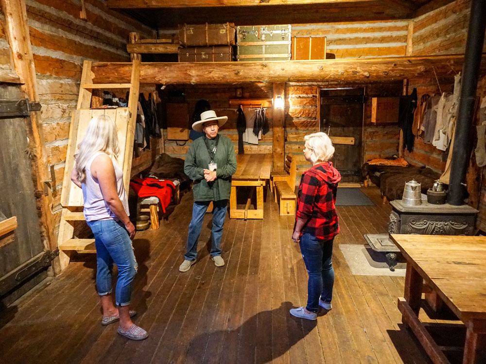Inside Kootenai Brown's Cabin