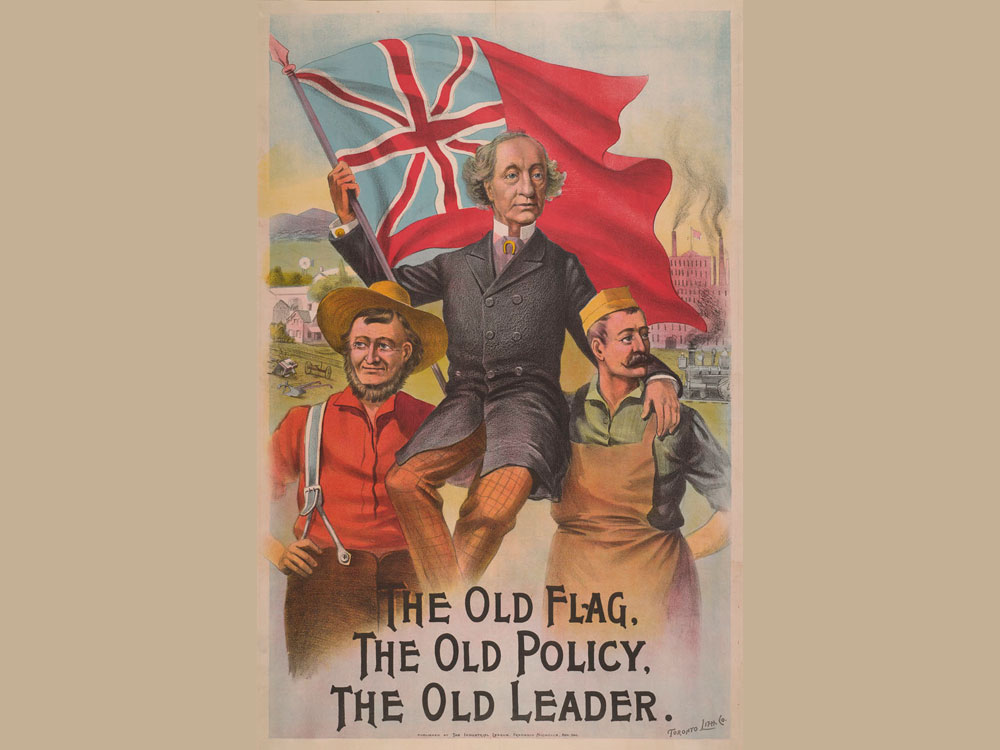 The Old Flag. The Old Policy. The Old Leader