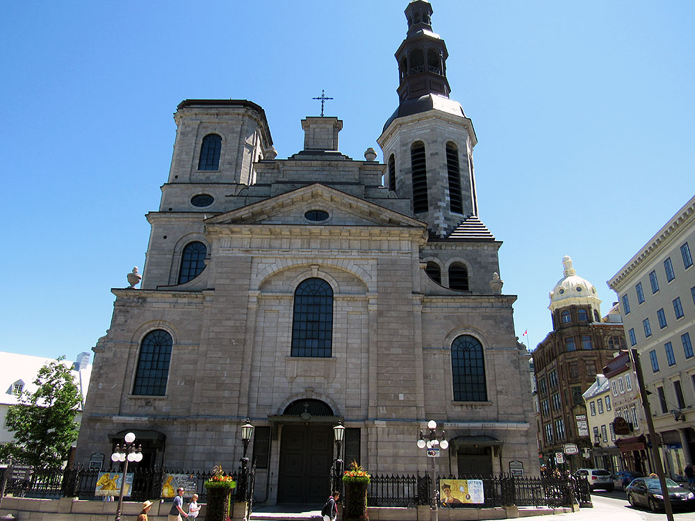 Outside Quebec City's Notre Dame