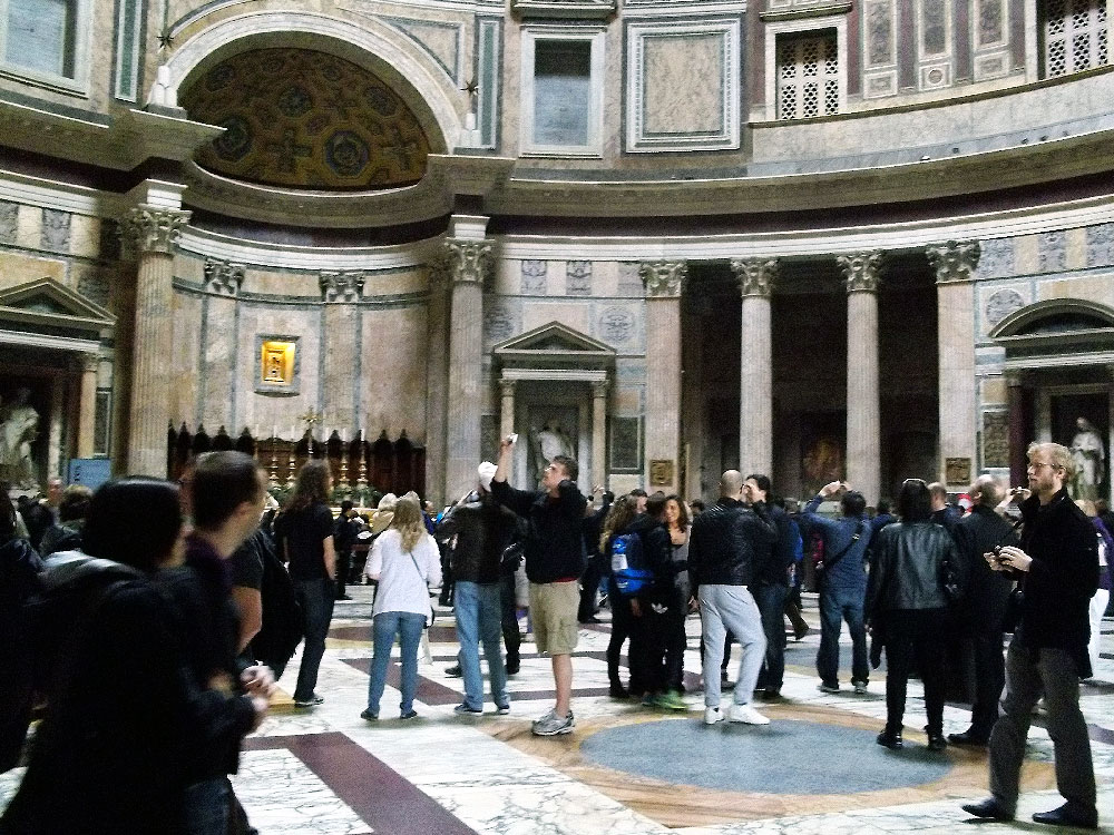 Inside Pantheon in Rome