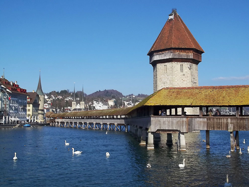 Lucerne's Castle Bridge