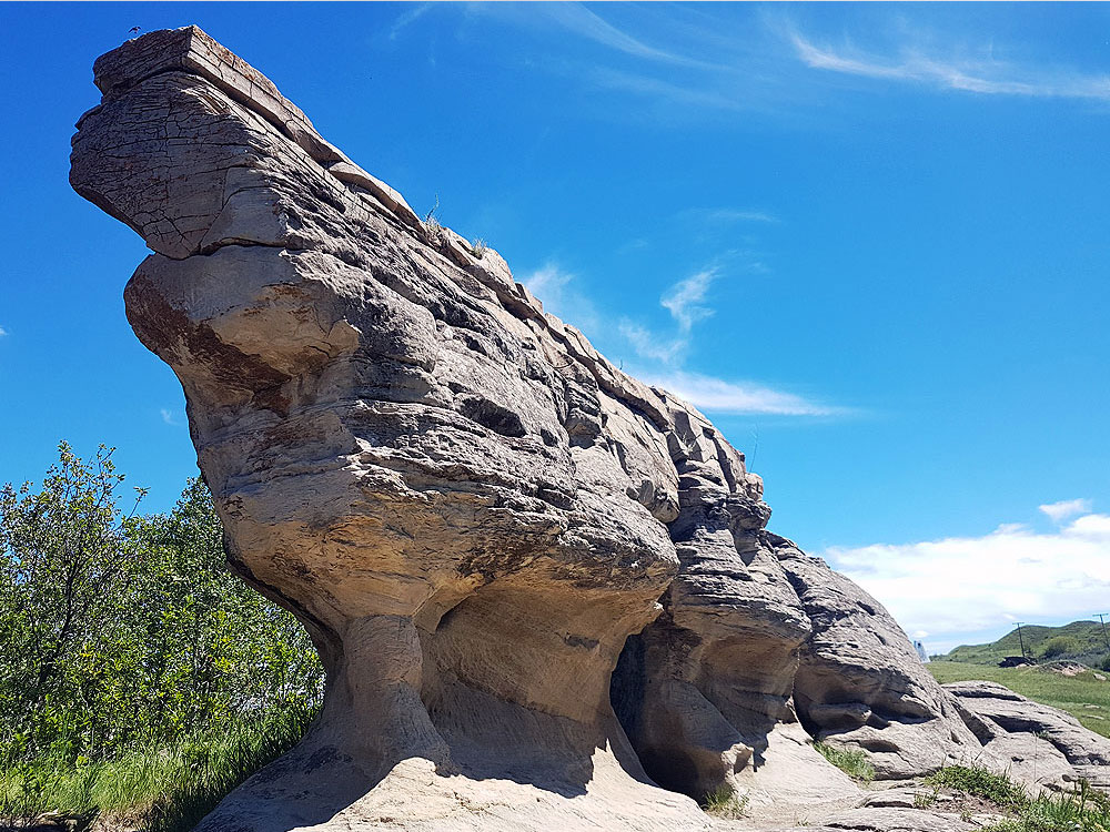 Stone formation in Roche Percee in Saskatchewan