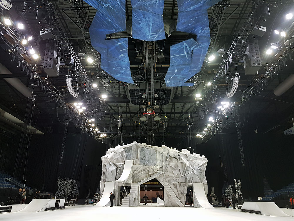 Massive set at Cirque du Soleil's Crystal