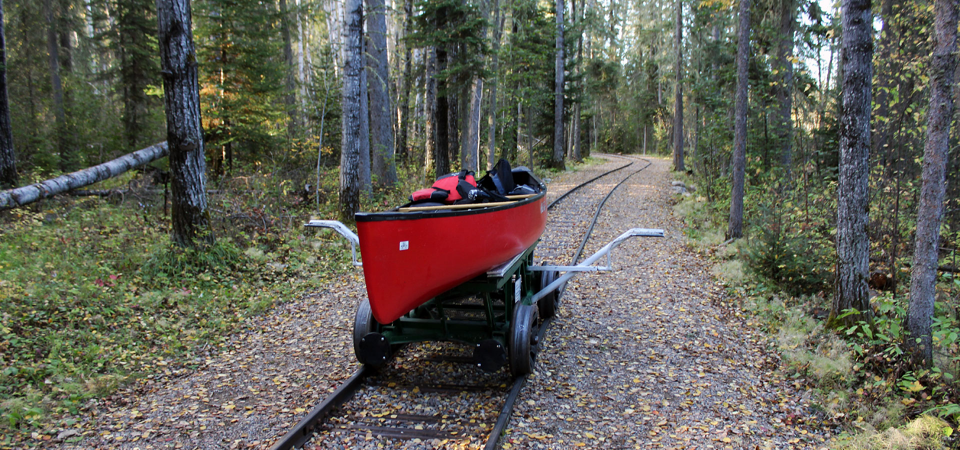 Railway portage in Prince Albert National Park