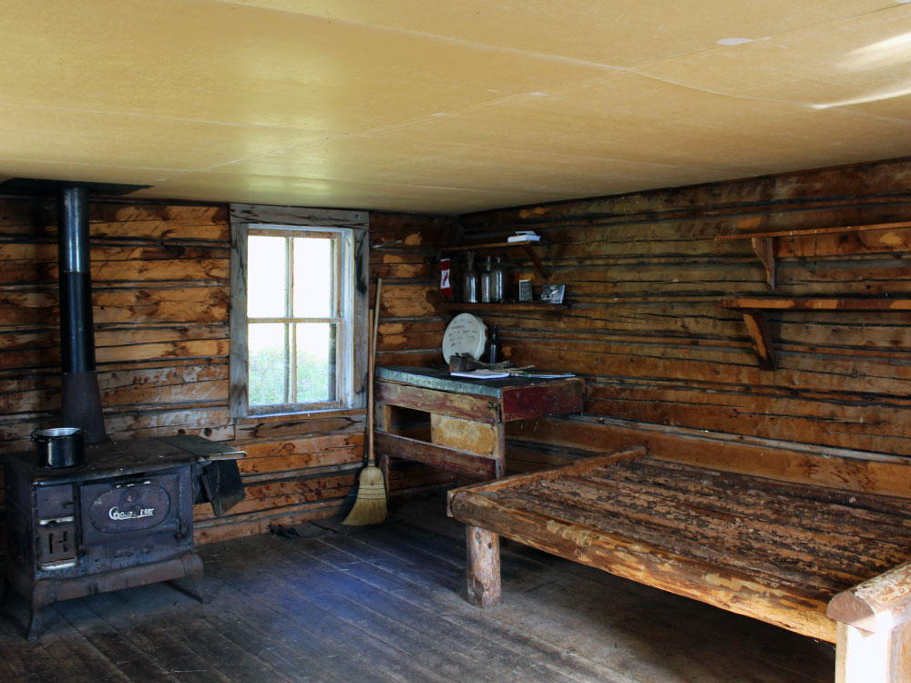 Inside Grey Owl's Cabin
