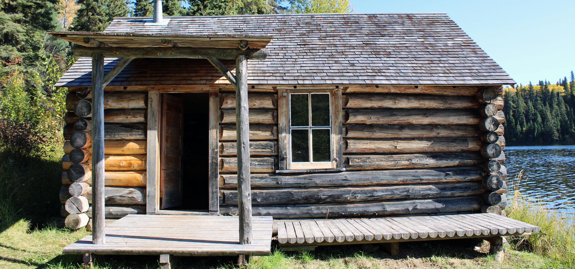 Front of Grey Owl's Cabin