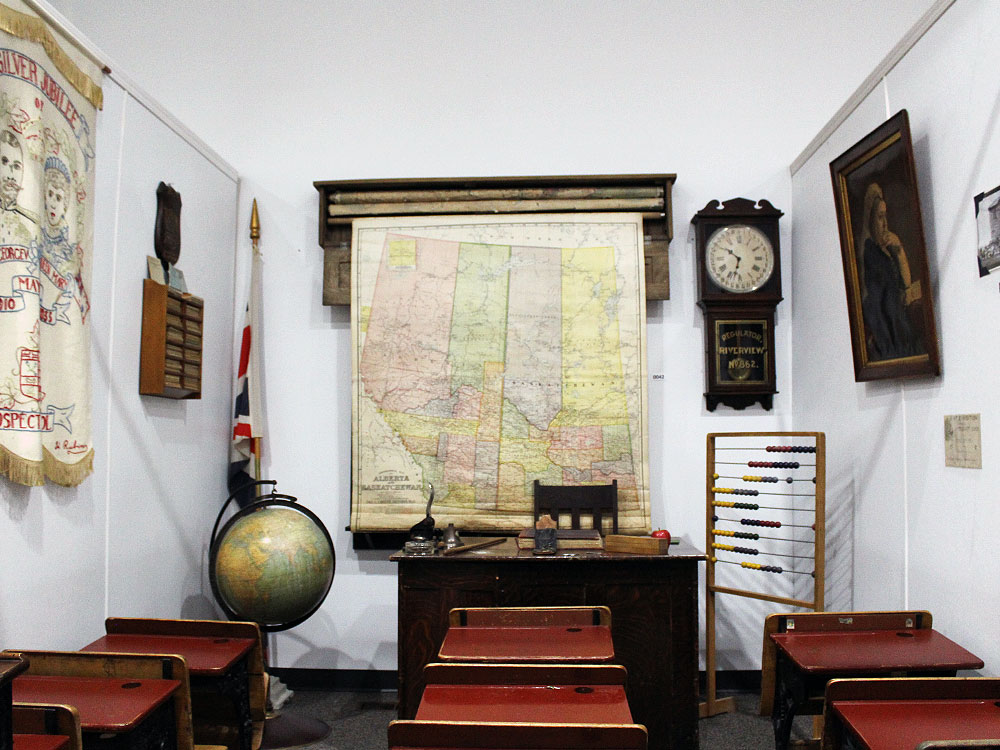 Classroom inside the Soo Line Museum