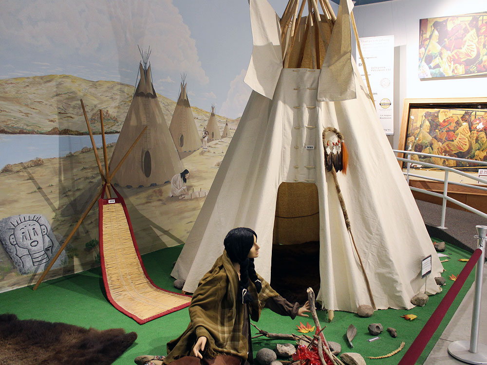 Saskatchewan Indigenous exhibit at Soo Line Museum