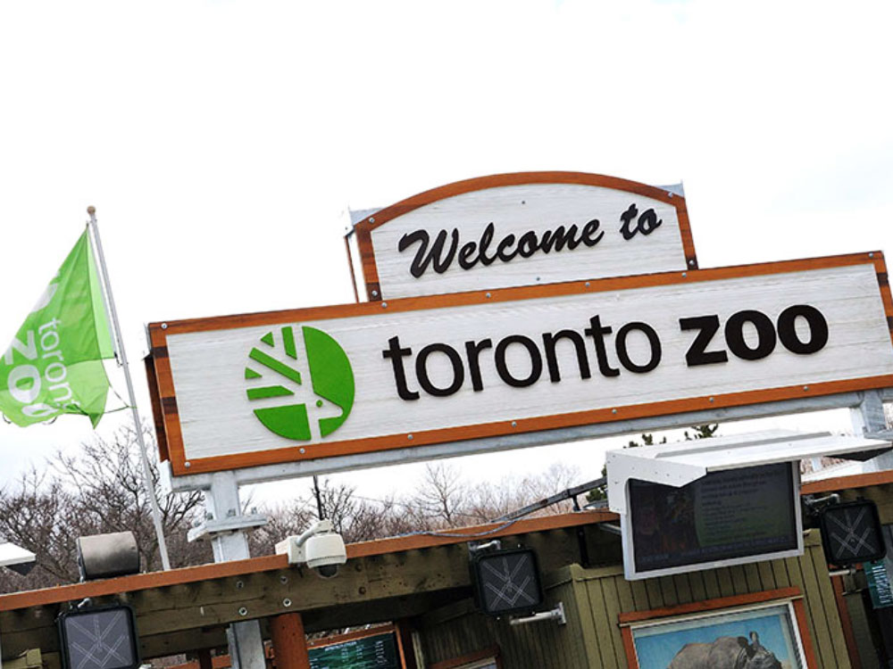 Sign for Toronto Zoo