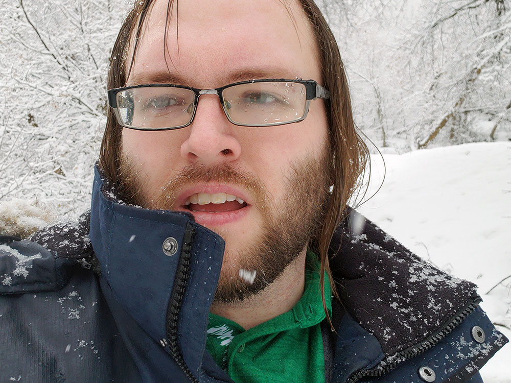 Me, all wet with snow